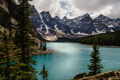 Moraine Lake in the Valley of the Ten Peaks was the scene printed on the back of the Canadian $20 bill from 1969 to 1993 - a familiar and well loved scene.